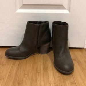 Never worn* dark brown booties